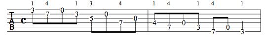 G Major Cross String scale