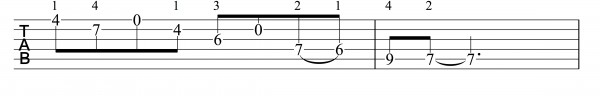 E Major Cross String scale