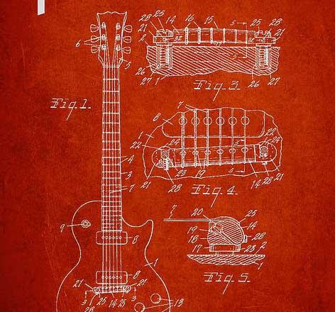 guitar-patent-posters